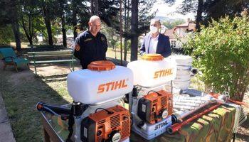 НЛБ Банка со донација за Територијалната противпожарна единица во Берово